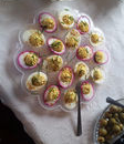 Pickled devil eggs