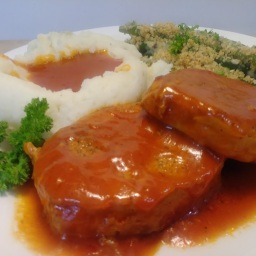 Jean's Chops Smothered in Tomato Gravy