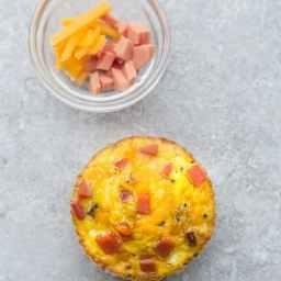 Ham and Cheese Muffin Quiche