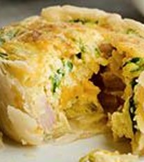 Ham and Cheese Muffin Quiche