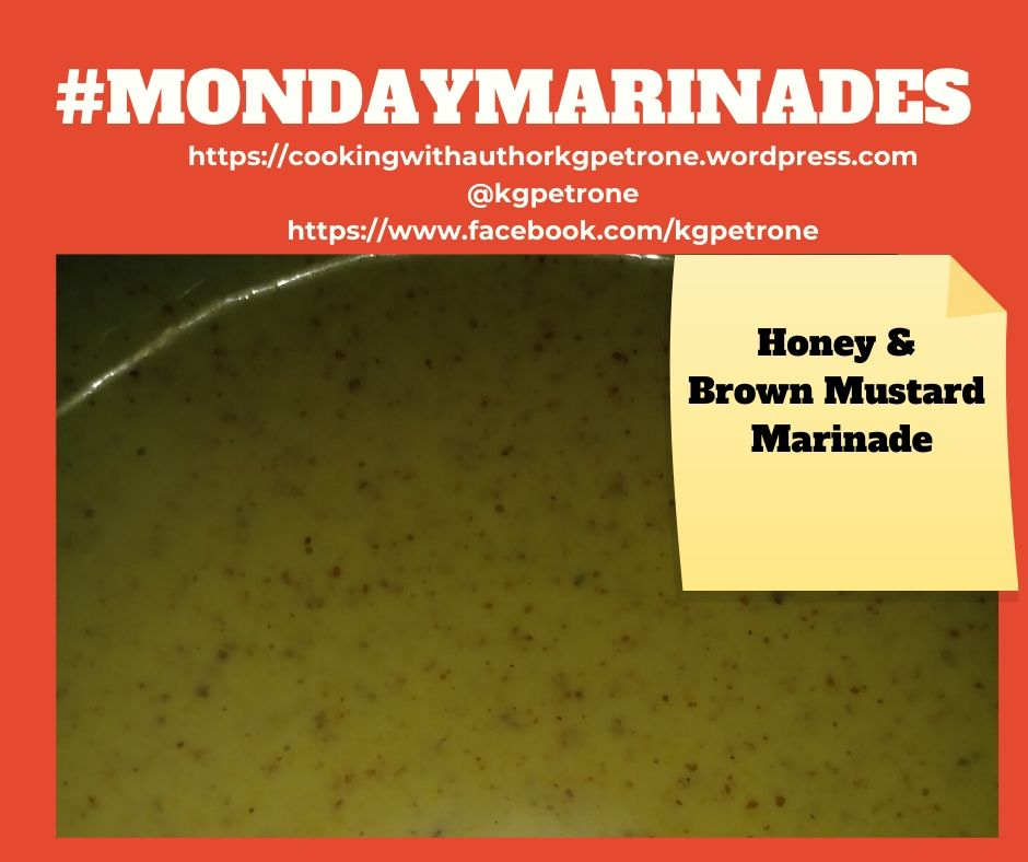 Mondaymarinades Honey & Brown Mustard