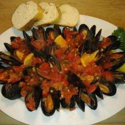 KG's Mussels Marinara