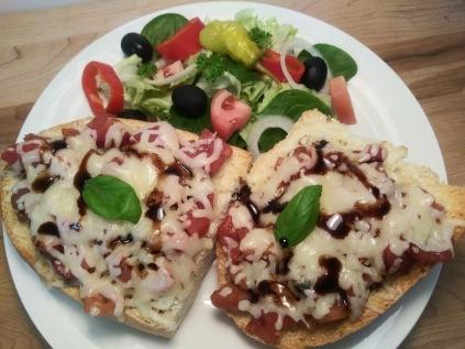 Bruschetta french bread pizza2