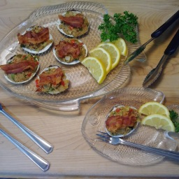Stuffed Clams w/ bacon