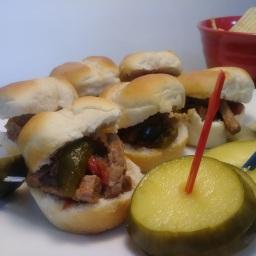 Mini Steak Sliders (Slow Cooker Recipe)