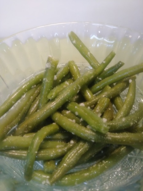 Parmesan String Beans steamed