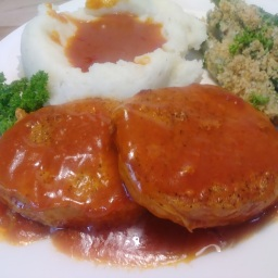Jean's Chops smothered in tomato gravy (Slow Cooker Recipe)