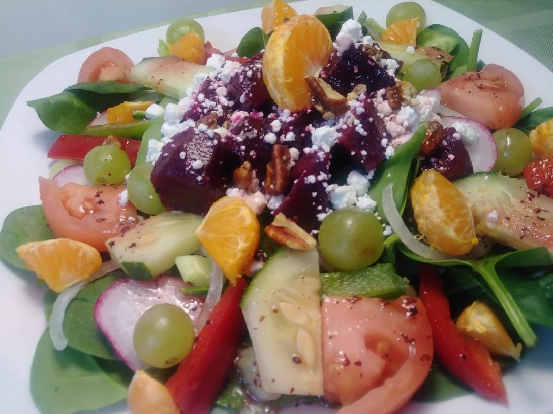 Raspberry citrus salad