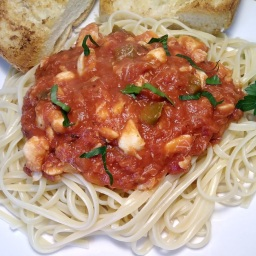 Red Pasta Sauce with Crabmeat (Leftover Madness Recipe)