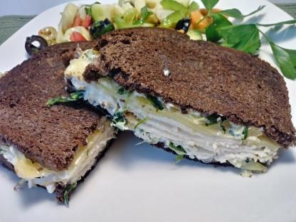 turkey and Artichoke dip grilled sandwich