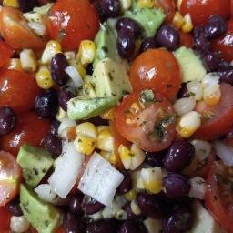 Fresh Corn, Avocado and Tomato Salad