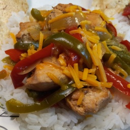 Mexican Chicken over Rice (Slow Cooker Recipe)